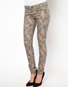 Зауженные джинсы с цветочным принтом Pepe Jeans London - Мульти
