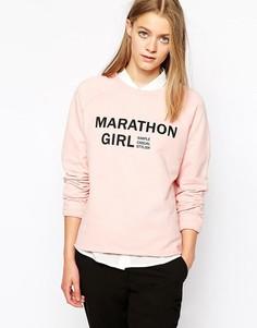 Свитшот с надписью Marathon Girl Vila - Розовый