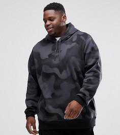 Худи из флиса с камуфляжным принтом Nike Jordan PLUS P51 Flight 860350-010 - Черный