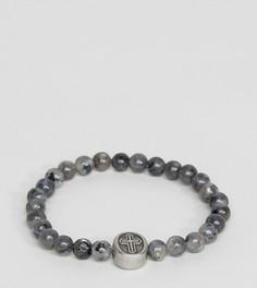 Серый браслет из бусин с крестиком Seven London эксклюзивно для ASOS - Серый