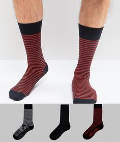 Набор из 3 пар носков с полосками в подарочной упаковке Levis - Темно-синий Levis®