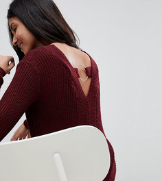 Джемпер с вырезом на спине Brave Soul Tall - Красный