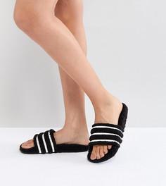 Черные шлепанцы adidas Originals Adilette - Коричневый