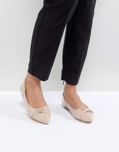 Лакированные туфли на плоской подошве Lost Ink - Бежевый