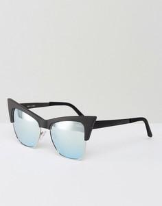 Солнцезащитные очки со стеклами мятного цвета Quay Australia - Черный
