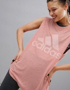 Розовый топ adidas Winners - Розовый