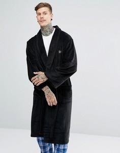 Флисовый халат Ben Sherman - Черный