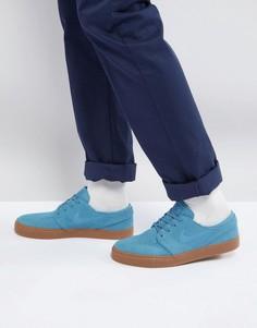 Синие кроссовки с каучуковой подошвой Nike SB Stefan Janoski 333824-420 - Синий