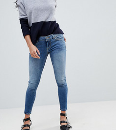 Выбеленные джинсы скинни с заниженной талией ASOS PETITE - Синий