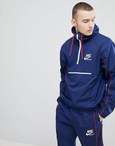 Темно-синяя куртка с молнией Nike Archive 941877-429 - Темно-синий