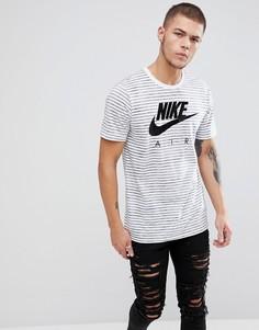 Белая футболка в полоску Nike Air 892213-102 - Белый