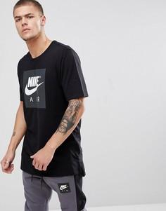 Черная футболка с большим логотипом Nike Air 892313-010 - Черный