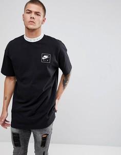 Черная футболка с отделкой кантом Nike Air 886068-010 - Черный