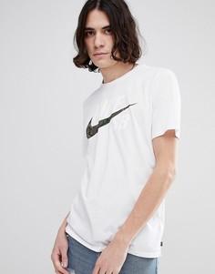 Белая футболка с камуфляжным принтом и логотипом Nike SB 892823-100 - Белый