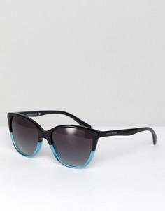 Солнцезащитные очки в черной оправе кошачий глаз Emporio Armani 0EA4110 55 мм - Черный