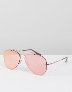 Розовые солнцезащитные очки-авиаторы Ray-Ban 0RB3584N 58 мм - Розовый