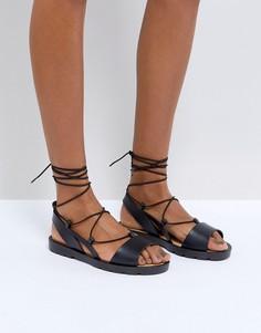 Сандалии со шнуровкой ASOS FIZZLE - Черный