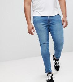 Синие джинсы скинни ASOS PLUS - Синий