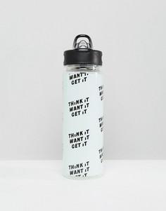 Бутылка для воды с текстовым принтом Ban.do - Мульти