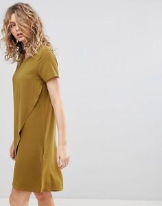 Свободное платье с запахом Ichi - Зеленый