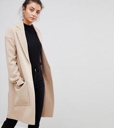 Креповое пальто с карманами ASOS TALL - Светло-бежевый