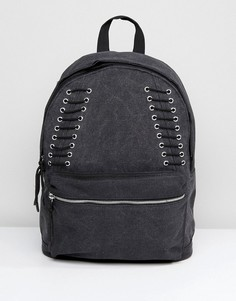 Серый рюкзак со шнуровкой ASOS - Серый