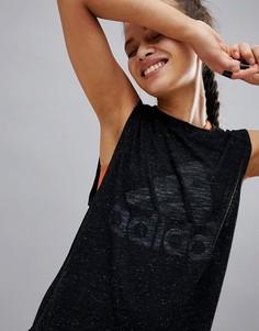 Черная майка adidas Winners - Черный