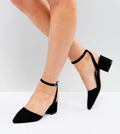 Туфли для широкой стопы на среднем каблуке с завязками Truffle Collection - Черный