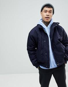 Темно-синяя спортивная куртка ASOS - Темно-синий