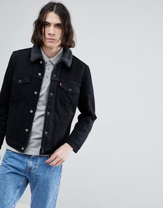 Джинсовая куртка ограниченной серии на меховой подкладке Levis - Черный Levis®