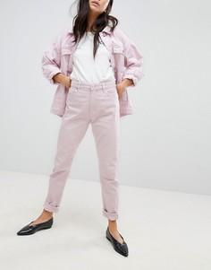 Розовые джинсы в винтажном стиле Monki Kimomo - Розовый