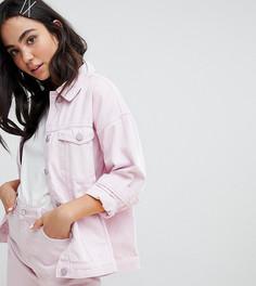 Джинсовая куртка Monki - Розовый