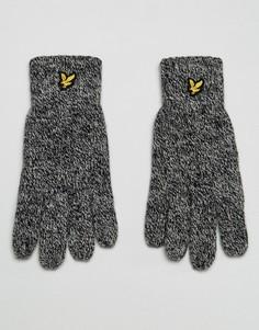 Черные перчатки с логотипом Lyle & Scott - Черный