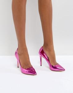 Розовые туфли-лодочки металлик Call It Spring - Розовый