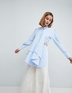 Рубашка с вырезами ASOS WHITE - Синий