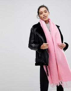 Длинный мягкий шарф с кисточками ASOS - Розовый