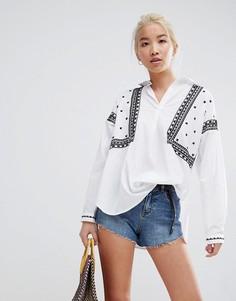 Рубашка с вышивкой New Look - Белый