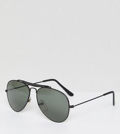 Черные солнцезащитные очки-авиаторы Reclaimed Vintage Inspired эксклюзивно для ASOS - Черный