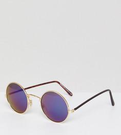 Круглые солнцезащитные очки в золотистой оправе Reclaimed Vintage Inspired эксклюзивно для ASOS - Золотой
