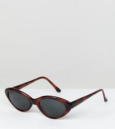 Черепаховые солнцезащитные очки кошачий глаз Reclaimed Vintage Inspired эксклюзивно для ASOS - Коричневый