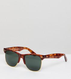 Черепаховые солнцезащитные очки в стиле ретро Reclaimed Vintage Inspired эксклюзивно для ASOS - Коричневый