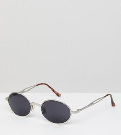 Серебристые солнцезащитные очки Reclaimed Vintage Inspired эксклюзивно для ASOS - Серебряный