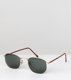Квадратные солнцезащитные очки в золотистой оправе Reclaimed Vintage Inspired эксклюзивно для ASOS - Золотой