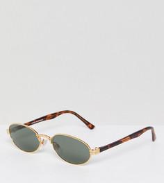 Золотистые солнцезащитные очки Reclaimed Vintage Inspired эксклюзивно для ASOS - Золотой