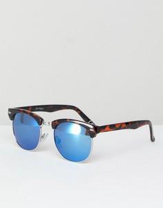 Винтажные солнцезащитные очки в черепаховой оправе Jeepers Peepers - Коричневый