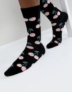 Носки с принтом Happy Socks - Черный