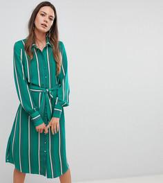 Платье-рубашка в полоску Y.A.S Tall - Мульти