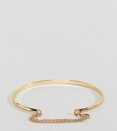Золотистый браслет-манжета с цепочкой DesignB эксклюзивно для ASOS - Золотой