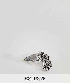 2 серебристых кольца с крестом DesignB эксклюзивно для ASOS - Серебряный