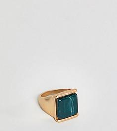 Массивное кольцо с зеленым камнем DesignB эксклюзивно для ASOS - Золотой